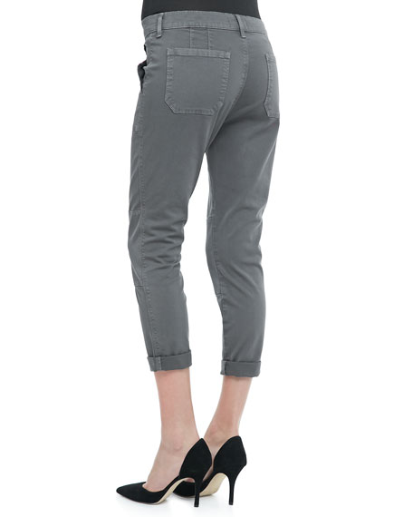Cuffed Twill Military Pants