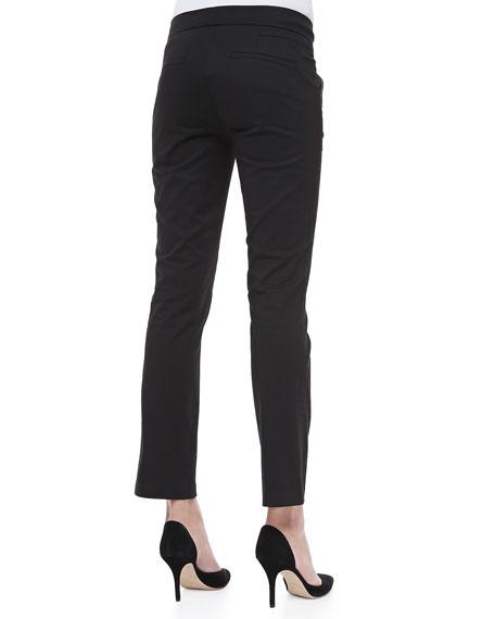 Straight-Leg Capri Pants
