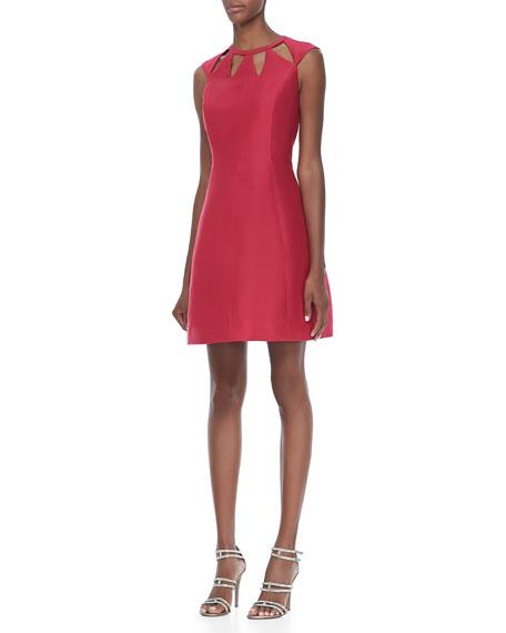 Cap-Sleeve Cutout Dress