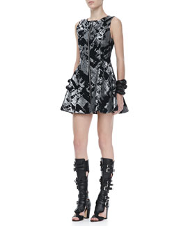 Alexis Palermo Metallic Printed Dress