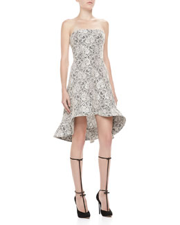 Alexis Sierra Strapless Lace Dress