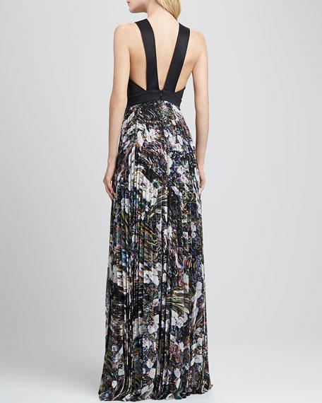 Aurelie Pleat-Skirt Combo Dress