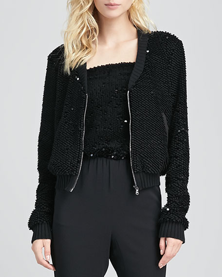 Barbuda Sequined Baseball Jacket