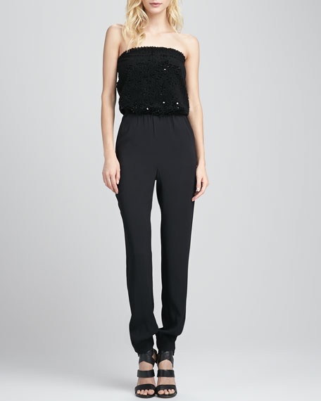 Phillipa Sequin-Top Jumpsuit