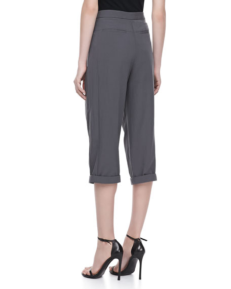 Relaxed Fit Cropped Pants, Lead