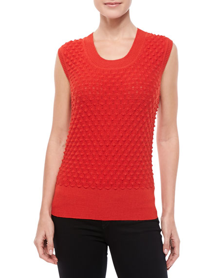 Textured Scoop-Neck Shell