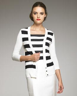 Carolina Herrera Striped Cardigan