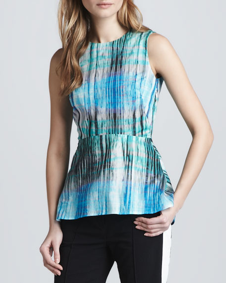 Sleeveless Top with Peplum