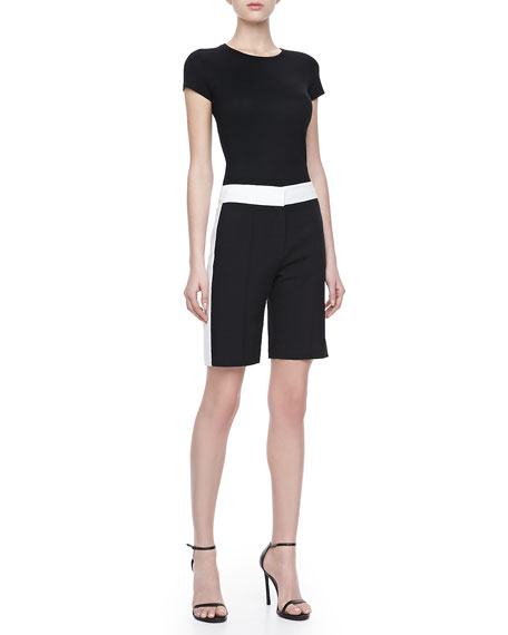 Colorblock Bermuda Shorts