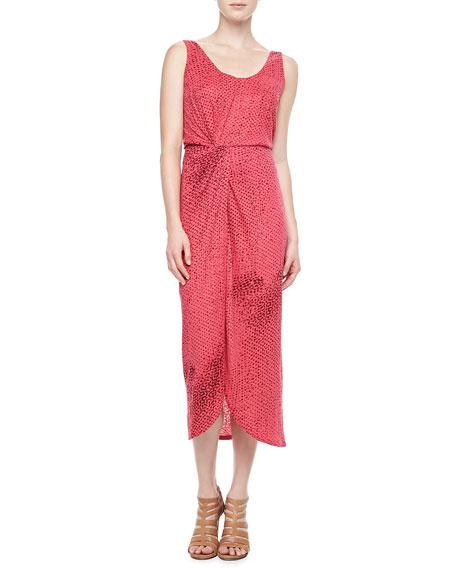 Sleeveless Printed Tank Dress
