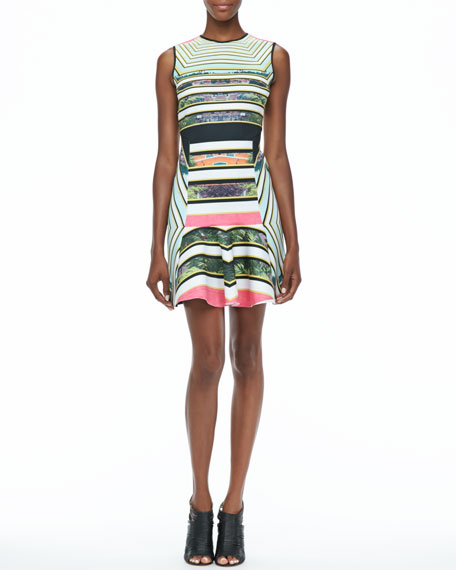 Cuban Printed Flare Dress