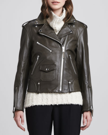 Dylan Leather Motorcycle Jacket