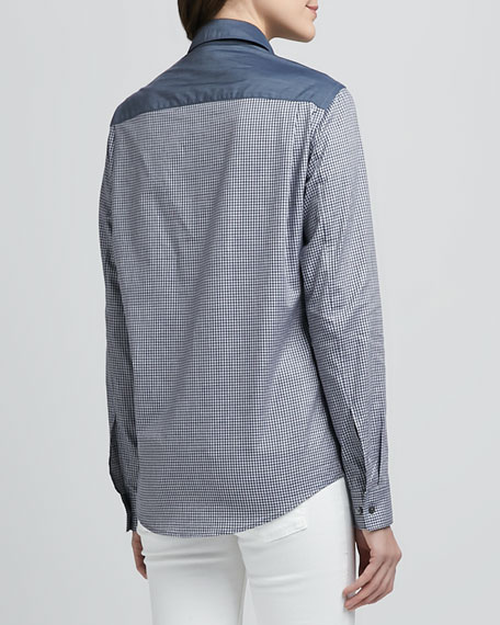 Yasa Check/Denim Blouse