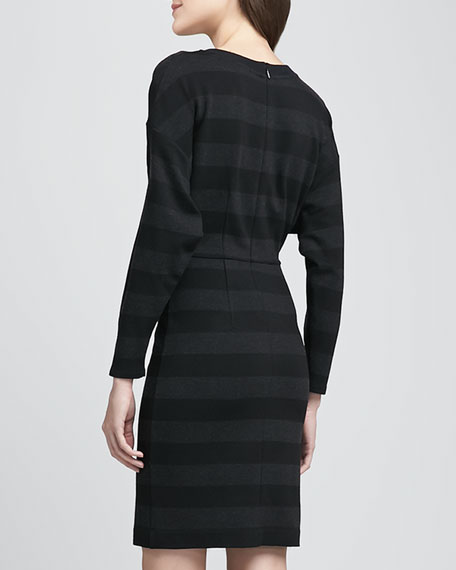 Marinoa Striped Ponte Dress