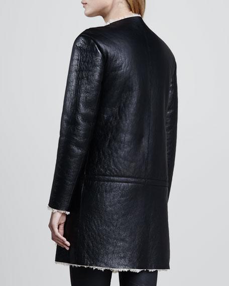 Suede/Shearling Long Jacket