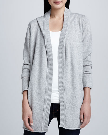 Easy Sporty Hooded Cashmere Cardigan