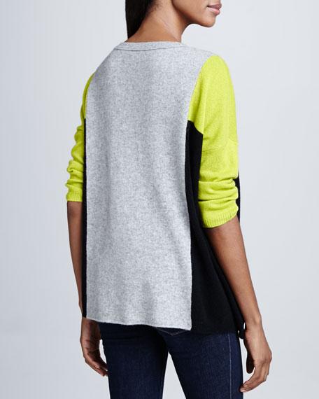 Cashmere Colorblock 3/4-Sleeve Top