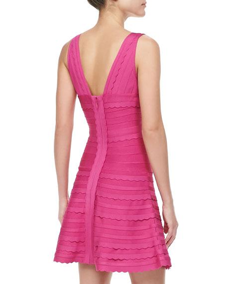 Scalloped A-Line Bandage Dress