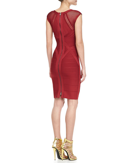 V-Neck Cutout Bandage Dress