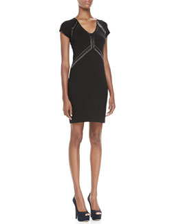 Nanette Lepore Dance Studded Wool Dress