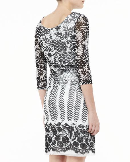 Boat-Neck Lace Dress