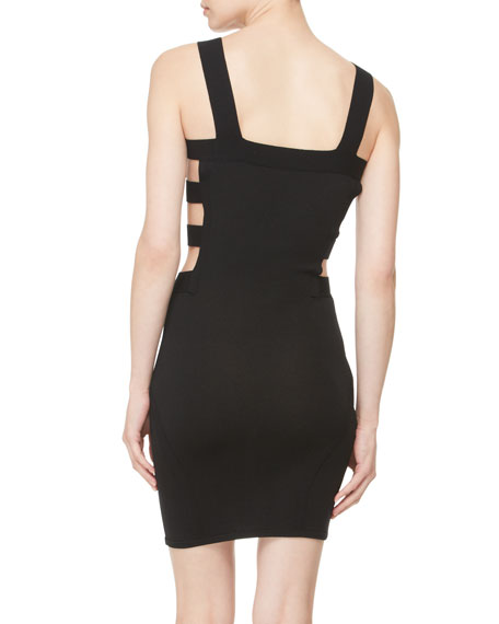 Bondage Knit Body Con Dress