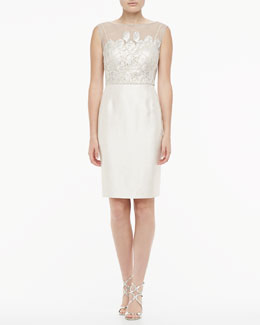 Kay Unger New York Sleeveless Lace Cocktail Dress