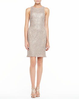 Kay Unger New York Sleeveless Beaded Cocktail Dress