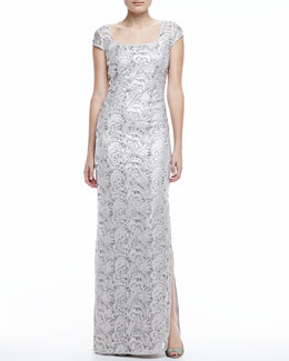 Kay Unger New York Straight Lace Gown