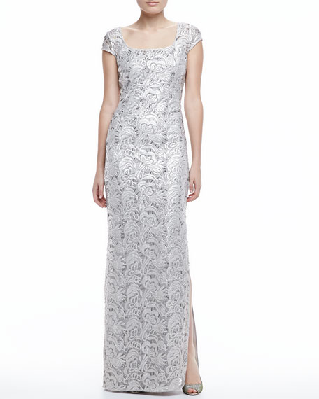 Straight Lace Gown