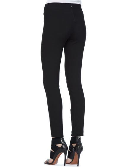 Zipper-Cuff Suit Leggings