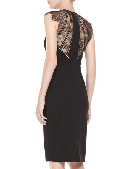 Samara Lace-Back Cocktail Dress