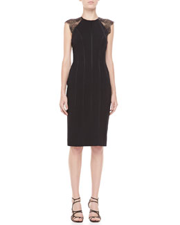 Catherine Deane Samara Lace-Back Cocktail Dress