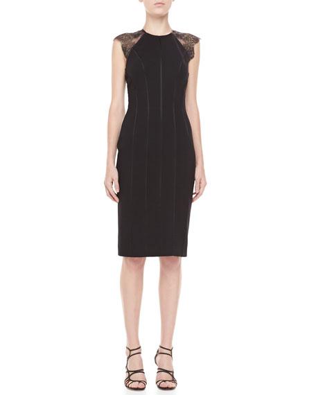 Samara Lace-Back Cocktail Dress