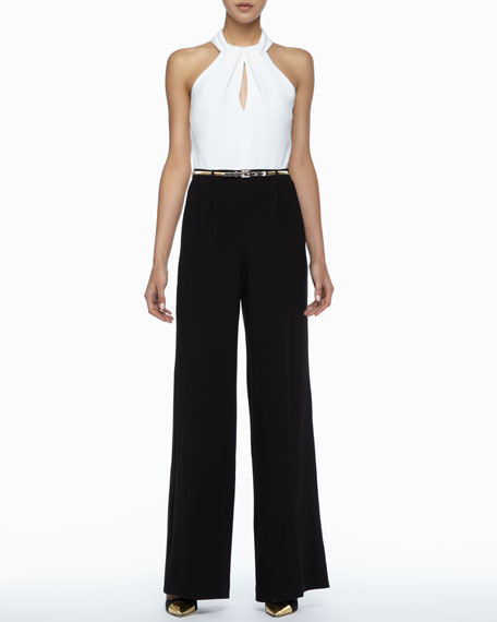 Atwood Sleeveless Wide-Leg Jumpsuit