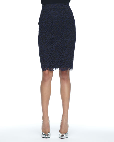 Smitty Lace Pencil Skirt