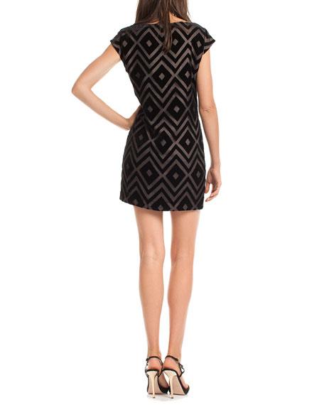 Blancart Diamond-Print Dress