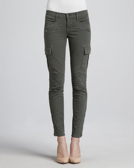 Grayson Skinny Cargo Pants, Olive