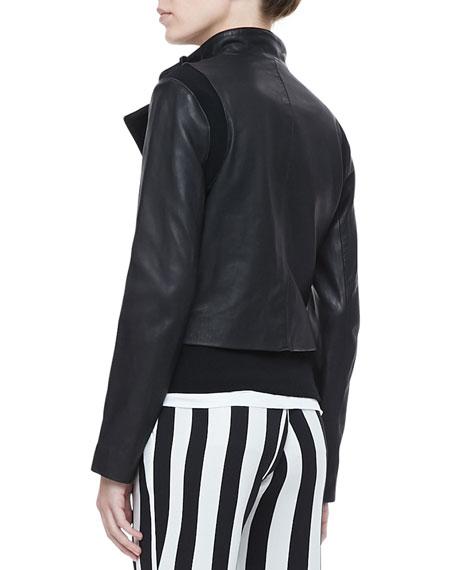 Saari Double-Snap Leather Jacket