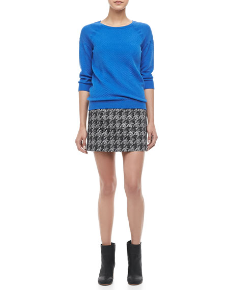 Terence Jacquard Pencil Skirt