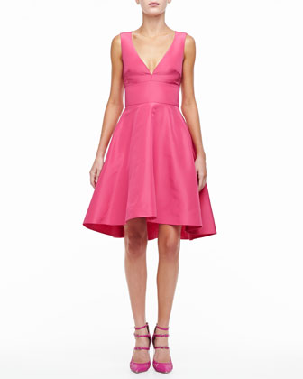 Silk Faille A-Line Party Dress