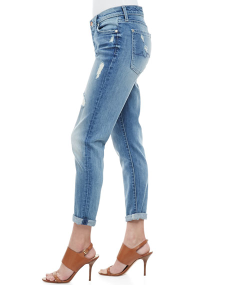 Josefina Super Light Destroyed Cuffed Jeans