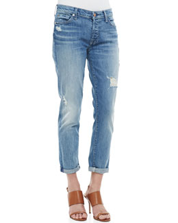 7 For All Mankind Josefina Super Light Destroyed Cuffed Jeans