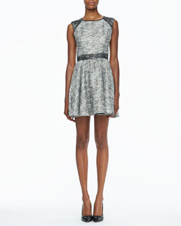 Rachel Zoe Marley Flared Tweed Dress