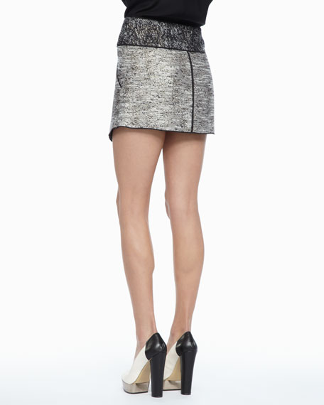 Bowery Asymmetric Tweed Skirt