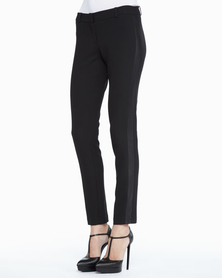 Leather-Side Slim Trousers