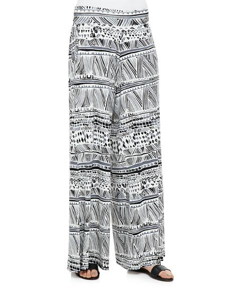 Grady Printed Wide-Leg Pants