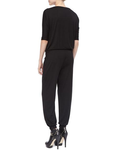 Modal Gathered-Waist Jumpsuit, Women's