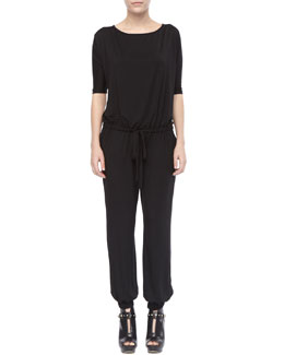 Rachel Pally Modal Gathered-Waist Jumpsuit, Women's