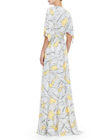 Jersey Long Print Caftan Dress, Women's